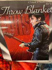 Elvis Presley Red Guitar PLUSH SOFT blanket throw NEW