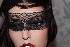 Maschera in pizzo nero Sexy/velo con gli occhi bendati Catwoman bondage Night Club Belly Dance