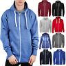 Mens Plain Hooded ZipUp Fleece Sweatshirt Hoodie Warm Jacket Jumper Top UK S-5XL