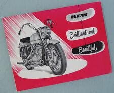 1952 Harley Davidson Motorcycle Original Brochure Book Model K Kh Fl Flh
