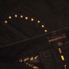 Women's Dana Buchman Straight Leg 4 Pocket Studded Stretch Jeans 12