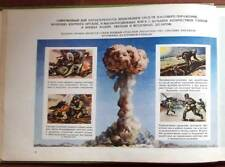 MILITARY Soviet Army Manual NUCLEAR ATOMIC WAR WEAPON bomb Big Poster Album Book
