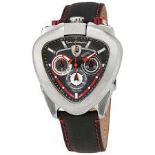 Lamborghini Spyder Black Dial Mens Chronograph Leather Watch 12H-5