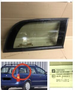 Vauxhall Astra G Mk4. Estate. Rear Drivers Window Glass  Side Small  1998 - 2004