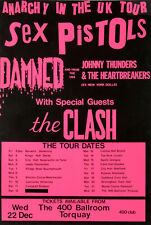 SEX PISTOLS/DAMNED/THE CLASH - Anarchy in the UK Tour 1976 Concert Quality Print
