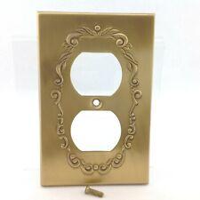 BrassSmith House - PP-1B - Brass - Federal Eagle 2 Plug Plate Cover