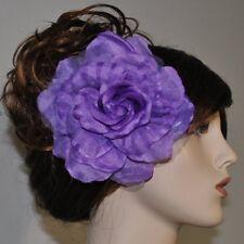 rose fleurs en tissu violet broche épingle Fascinator Parure pour cheveux lilas