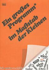 Prospekt Model International Modellautos 1983 brochure prospectus catalog
