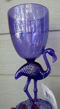 "PURPLE FLAMINGO Hawaiian Party Wine Goblet Plastic Glass Pool Friendly Luau 8"""