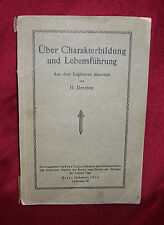 CHARACTER EDUCATION LDS Mormon Book of 1924 Lesson Manual SWISS GERMAN MISSION