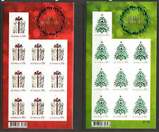 AUSTRALIA 2013 CHRISTMAS S/AD WITH EMBELLISHMENTS SET OF 2 SHEETS UNMOUNTED MT