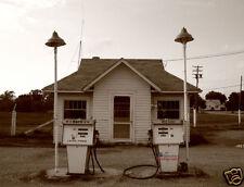 OLD MARATHON OIL GAS STATION FINE ART PHOTOGRAPH! Signed/COA