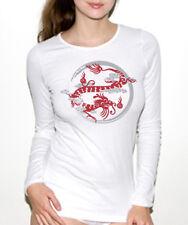 NEW American Apparel Asian Dragon yin yang hoodie shirt