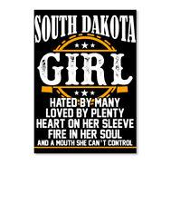 Born In South Dakota Girl Facts Sticker - Portrait