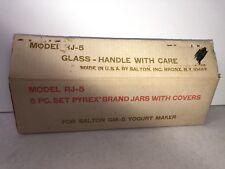 5 Vintage Pyrex Brand Salton Yogurt Maker Replacement Glass Jars
