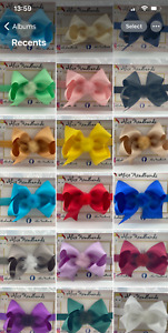 Baby Girls Bow Mink Faux Fur Bow Headband Hairband Hair Accessories 10 cm +Lot