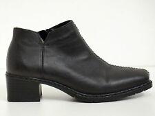 RIEKER ★★ Stiefeletten Gr. 36 Schwarz Damen Leder Chaussures Scarpe Schuhe