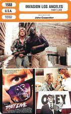 FICHE CINEMA FILM USA Invasion Los Angeles /They live Réalisateur John Carpenter