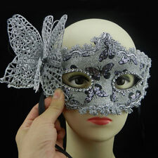 Bling Masquerade Halloween Cosplay Party Lace Butterfly Venetian Princess Mask