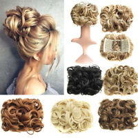 Top 9 Styles Women Easy Clip In Synthetic Curly Hair Extensions Hairpiece Bun