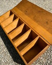 Antique C.1930 wooden pine hinged small sized Tea chest or Spice box