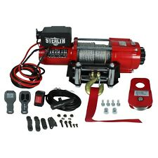 Stealth 4500lb 12v Electric Winch with Steel Rope & Pulley Block