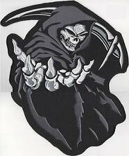 GRIM REAPER SKELETON - SEW ON BIKER MOTORCYCLE PATCH N-260