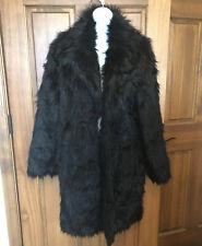 Pecaocun Black Faux Fur Coat Size XL NWT # 670