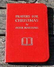 "Prayers For Christmas Peter Marshall Miniature Book Hallmark 3 1/4"" x 2 1/8"""