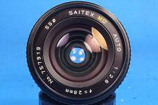 Saitex MC Auto 28mm 1:2.8 Prime Wide Angle Lens for Minolta SR/MD Manual Focus