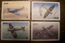 Nevis 1986 #460-463 Spitfire 50th Anniv, MNH Mint Never Hinged Set of 4 Stamps
