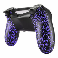 Textured Purple Back Housing Shell Case Repair Part for PS4 Slim Pro Controller