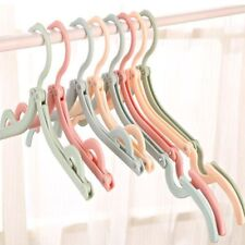 Slotted Clothes Hanger Portable Folding Travel Foldable Plastic Clothes