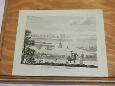 c1800 Antique Print//TOWN AND HARBOR OF PORTSMOUTH