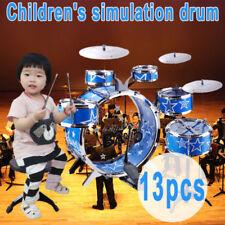 13pc Kids Junior Jazz Drum Kit Music Set Children Mini Big Band Play Toy Musical