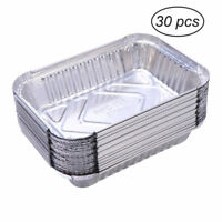 30pcs BBQ Aluminum Foil Grease Drip Pans Recyclable Grill Catch Tray 19.5L