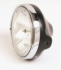 Klarglas Scheinwerfer H4 schwarz Moto Guzzi California Mille GT black headlight