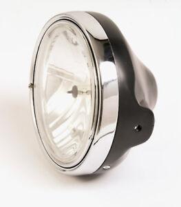 Clear Glass Headlight H4 Black Moto Guzzi California Mille Gt Black Headlight