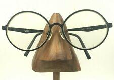 Vintage Ogi 8065/1619 Black White Metal Oval Oversized Sunglasses Frames