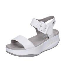 scarpe donna MBT MANNI 41 EU sandali bianco pelle performance BX884-41
