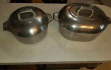 Vintage Wagner Ware Magnalite LOT/2 4265-P Aluminum Roaster AND 4248-M Round