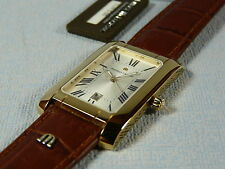 MAGNIFICENT MAURICE LACROIX MIROS GOLD MENS WATCH  SAPPHIR  NEW  FREE SHIPPING