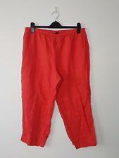 Gordon Smith 100% Linen Lightweight Coral Wide Leg 3/4 Capri Short Pants Size 18