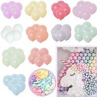 100pcs 10'' Pastel Latex Balloons Macaron Candy Mixed Colored Party Balloon UK