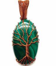 Handmade Colgante! Natural Malaquita Alambre Envolvente Para Oferta AAA+