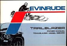 1973 EVINRUDE TRAILBLAZER E264RC SNOWMOBILE OWNERS MANUAL NEW (808)