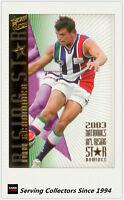 2004 Select AFL Ovation Risingstar Nominee Card RSN13 Byron Schammer (Fremantle)