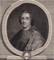 Portrait XVIIIe Ange Marie Quirini Angelo Querini Cardinal Biblioteca Queriniana