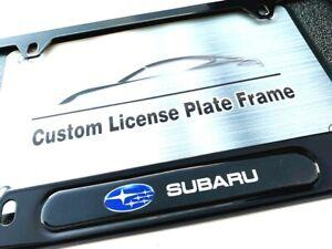 Black License Plate Frame - Subaru
