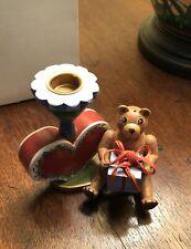 Vintage German Bear & Heart Kathe Wohlfahrt Candle Holder